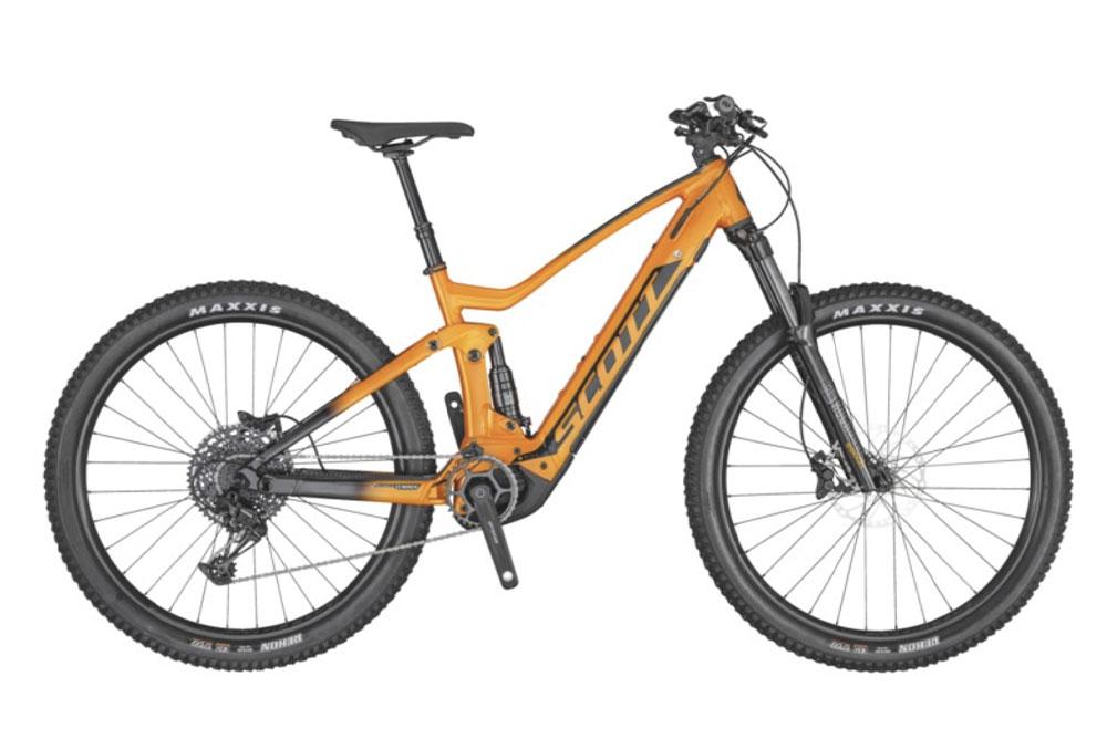 mountain-bike-elettrica-arancione-scott